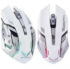 Gaming Mouse Wireless X-70 2.4GHz Rechargable 2400DPI - White (Brand New)