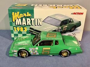 Action 1983 Mark Martin #6 Jim Magill Chevrolet Monte Carlo 1:24 NASCAR  GREEN