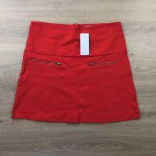 Target Red Ponti  A-Line Skirt B.Cherry Size 14  Zip Front Pockets (CJ18)