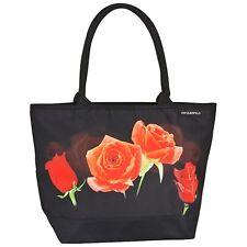 Tasche Braut Bag Shopper Damen elegant Blumen rot schwarz Rosenbouquet 4163