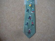 Tintin Tie - Tintin and Friends Running - Green - New