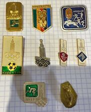 Moscow Olympics 1980 lapel pins badges nine in total.