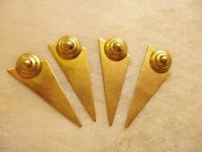 Geometric Brass Stampings, Vintage Triangular Modernist Art Deco, 4 Pieces
