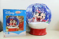 "Rare Gemmy 15"" Airblown Inflatable Tabletop Snow Globe Mickey Minnie Disney"