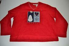 WHITE STAG UGLY CHRISTMAS SNOWMAN FROSTY STAR RED SWEATER SIZE XL