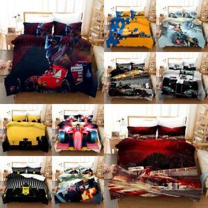 F1 Duvet Cover 2/3 Pcs FIA Formula 1 Hd Pattern Printing Bedding Set Pillowcase