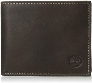 Timberland Men's Genuine Smooth Leather Cloudy Passcase Bifold Wallet