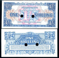 GREAT BRITAIN BRITISH ARMED FORCE 1 SHILLING 1956 P M26 UNC