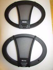 """NOS PAIR (2) 6"""" x 9"""" GERMAN MAESTRO CAR AUDIO SPEAKER GRILLS-COVERS"""