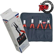 Knipex 001956 4-Piece Internal & External Circlip Pliers Set W/Roll 00 19 56