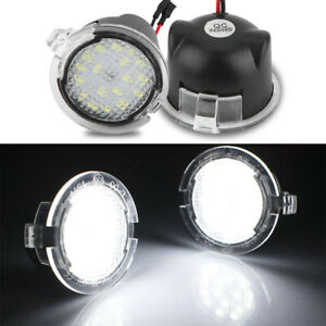 2X LED Side Mirror Puddle Light White For Ford F150 Raptor Edge Fusion Explorer