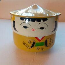 OMC Japan Kokeshi Doll Stacking Bowls Bento Box Lacquer Ware Wood