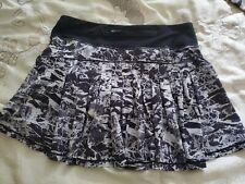 Lululemon CIRCUIT BREAKER Skirt Skort SIZE 6 TALL WOMEN'S Black/White Run Pace