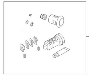 Honda Vision NSC110 2011-2013 Top Case Lock Cylinder Set New 08M70KZL860