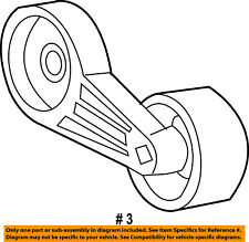 FORD OEM E-350 Econoline Club Wagon-Serpentine Fan Belt Tensioner F8UZ6B209CA