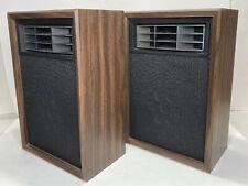 Rare Vintage Montgomery Ward GEN 6615B Air Suspension Horn Bookshelf Speakers
