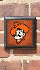 Oklahoma State Cowboys Pistol Pete Mascot OSU Antiqued Sign Plaque Art Decor