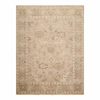 "7'8"" x 9'11"" Hand Knotted 100% Wool Peshawar Oushak Oriental Area Rug Taupe 8X10"