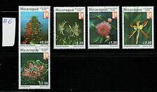 Nicaragua 1982 gestempelt Pflanzen Flora Blumen Orchidee Mimosa Lobelia (B6)