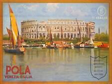 TRAVEL POLA PULA CROATIA ARENA ROMAN STADIUM VENICE LAKE BOAT POSTER BB7606B