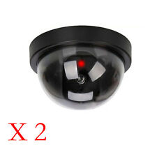 2Pc dummy dome caméra de sécurité cctv fausse ir led rouge clignotante lumière intérieure