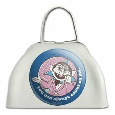 Sesame Street You Can Count on Me White Metal Cowbell Cow Bell Instrument