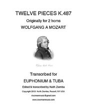 Mozart 12 Horn Duets trans for Euphonium & Tuba Duet K. 487  NEW great music!