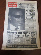 Melody Maker Jan 1963 Ray Charles Duke Ellington Herbie Mann Cliff Richard