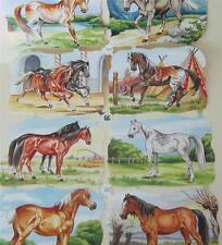 Paper German Vintage EAS Historic Die Cuts Sheet Germany Horses around the World