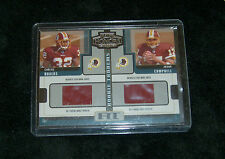 2005 Washington Redskins Carlos Rogers Jason Campbell Rookie Jersey Card