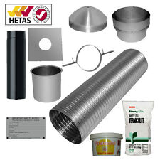 "7m 6"" Flexible Multifuel Flue Liner Pack/kit For Woodburner logburner MfuelStove"