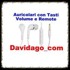CUFFIE STEREO AURICOLARI HEADSET JACK 3,5mm CON MICROFONO REMOTE