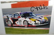 PHOTO cm15x20 SIGNED by Vanina ICKX PORSCHE 996 GT3 CUP #123 24H SPA FIA GT 2004
