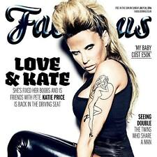 FABULOUS Magazine Katie Price 24/7/16 New And Bagged The Sun On Sunday Jordan