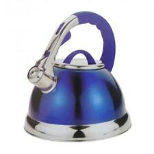 3.5L Stainless Steel Whistling Kettle with Silicone Handle Blue