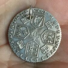 Georgian Love Token Silver Coin Sixpence 1787 Charm