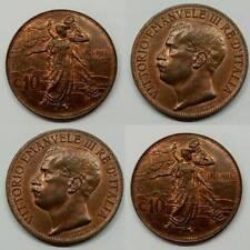 10 CENTESIMI 1911 RAME ROSSO FIOR DI CONIO (PERIZIA)  REGNO D'ITALIA QUALITY MAX