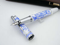 blue and white flower classic Medium nib JINHAO gift fountain pen