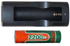 Lithium Ion Single Bay Charger + 18650 Li-Ion 3.7 Volt 2200 mAh Battery w/ PCB