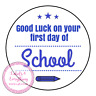 Good Luck First 1st Day Back To School Children Kids Sweet Cone Gift Box Hamper