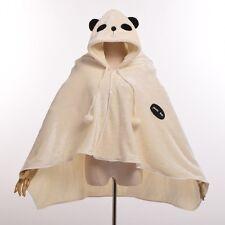 Cute Giant Panda Plush Cloak Winter Home Coral Fleece Cape Cartoon Animal Wraps