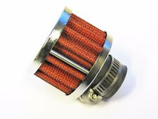 Small Breather Filter 12mm Neck Internal Diameter (Oil/Crankcase) Chrome/Red