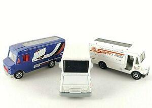 Matchbox Delivery Vans x 3 Express Postal Mail Parcels MB787 MB813