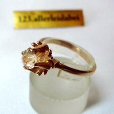 dezenter russischer Citrin Ring 583 Rotgold Gold / BV 296