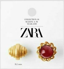 ZARA WOMAN NWT SALE! PACK OF LIMITED EDITION GOLDEN STONE RINGS REF: 1856/502