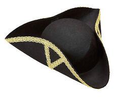 Eleganter Barock Dreispitz Hut NEU - Karneval Fasching Hut Mütze Kopfbedeckung