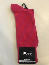 NEW Hugo Boss Mens Pink George Finest Mercerised Cotton Socks Size UK 8.5 To 9.5