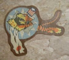 "WW2 CATF / Flying Tiger Squadron Patch / ""LEATHERETTE"" / Free Global Shipping"