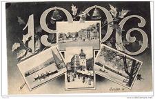 Nouvel An 1906 - carte multi vues Genève - voyagé 1905