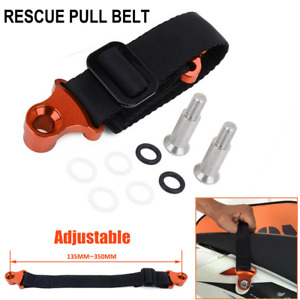 Adjustable Motorcycle Dirt Bike Rescue Strap Rear Pull Belt Handle Lift Tow Rope